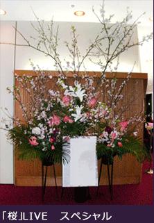 オーダーメイドスタンド花 東京 二子玉川の花屋 公演祝い花 桜スタンド花