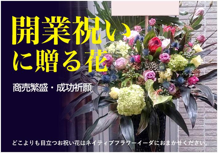 開業祝いの花 東京 ネイティブフラワーイーダ