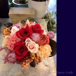 移転祝い 【プリザーブドフラワー】ローズレッド(ケース付き) 二子玉川の花屋 ネイティブフラワーイーダ