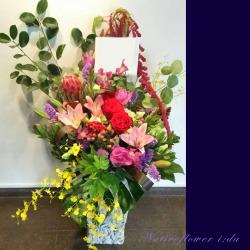 移転祝いのアレンジ装花 二子玉川の花屋 ネイティブフラワーイーダ 【生花アレンジ】パウロッサ