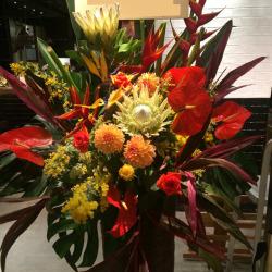 お祝いスタンド花 サンシャイン 東京 二子玉川花屋 ネイティブフラワーイーダ