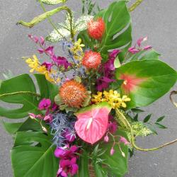 カフェ 開店祝い お祝い花アレンジメント 二子玉川の花屋 ネイティブフラワーイーダ
