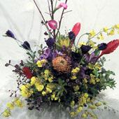 新装開店 お祝い花 枝とネイティブフラワーのアレンジメント