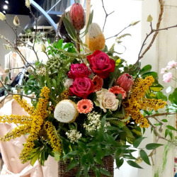美容室開店祝いのスタンド花 きらら 二子玉川 花屋 ネイティブフラワーイーダ