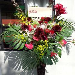 お祝いスタンド花 ベルベット 二子玉川の花屋 ネイティブフラワーイーダ