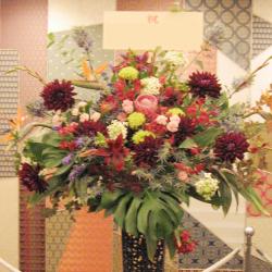開店祝い スタンド花 和・ジャパン 二子玉川の花屋 ネイティブフラワーイーダ