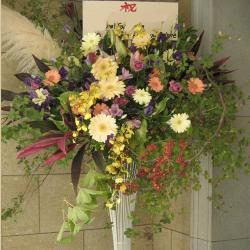 お祝い 母の日イベントおすすめスタンド花 東京 世田谷区 ネイティブフラワーイーダ エレガントスタイル