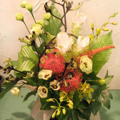 新装開店 お祝い花 アレンジ装花 二子玉川の花屋