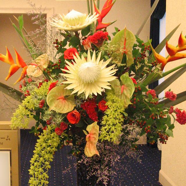 新装開店 お祝い花 スタンド花